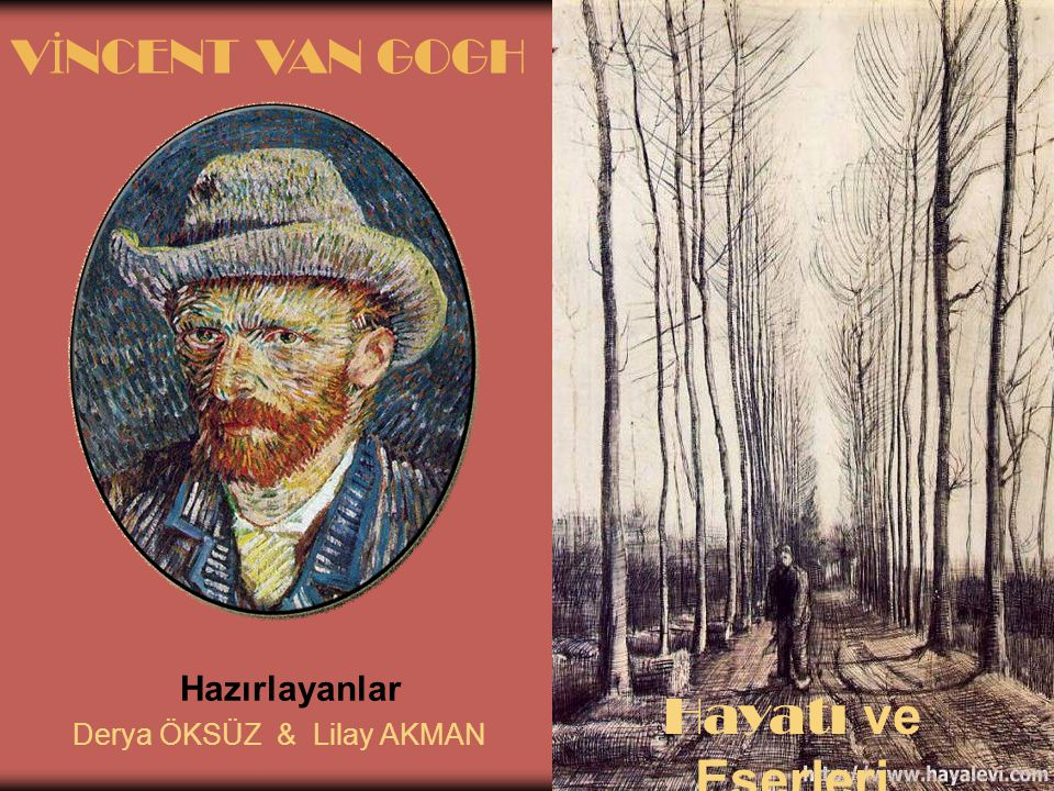 Hazırlayanlar Derya ÖKSÜZ & Lilay AKMAN V İ NCENT VAN GOGH Hayatı ve Eserleri