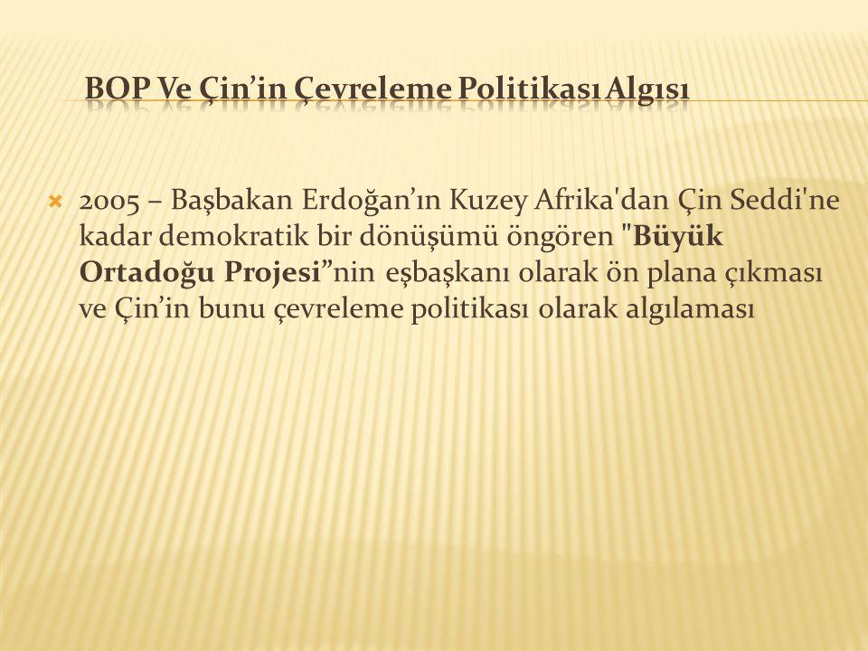 2005 – Başbakan Erdoğan'ın Kuzey Afrika'dan Çin Seddi'ne kadar demokratik bir dönüşümü öngören