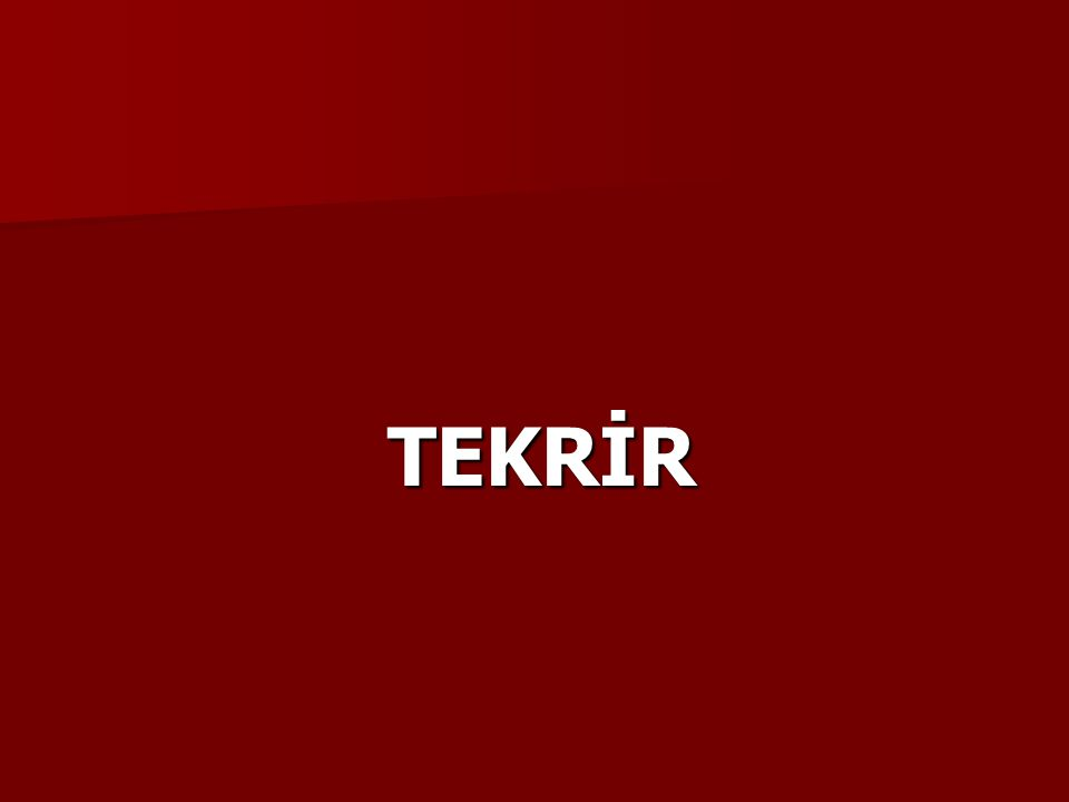 TEKRİR