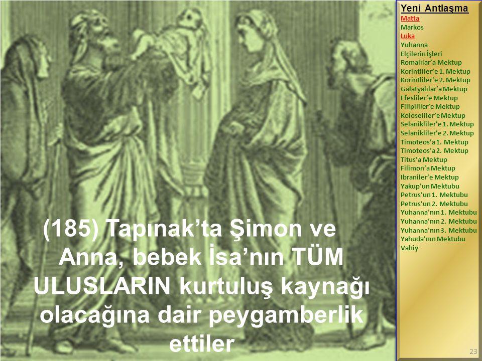 (185) Tapınak'ta Şimon ve Anna, bebek İsa'nın TÜM ULUSLARIN kurtuluş kaynağı olacağına dair peygamberlik ettiler Yeni Antlaşma Matta Markos Luka Yuhan
