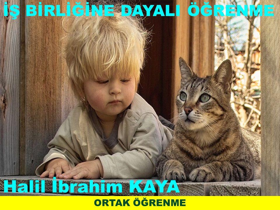ORTAK ÖĞRENME İŞ BİRLİĞİNE DAYALI ÖĞRENME Halil İbrahim KAYA