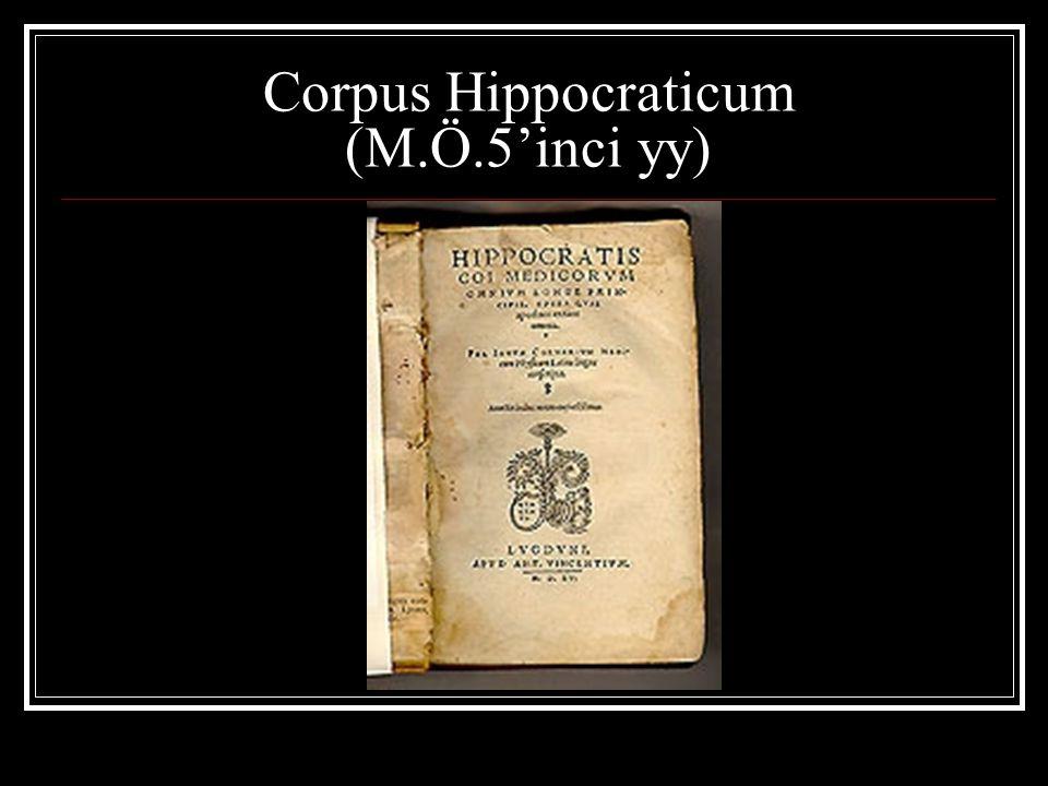 Corpus Hippocraticum (M.Ö.5'inci yy)