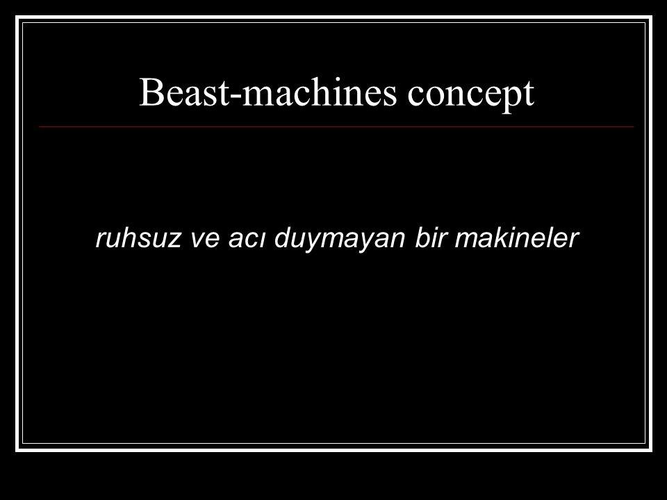 Beast-machines concept ruhsuz ve acı duymayan bir makineler