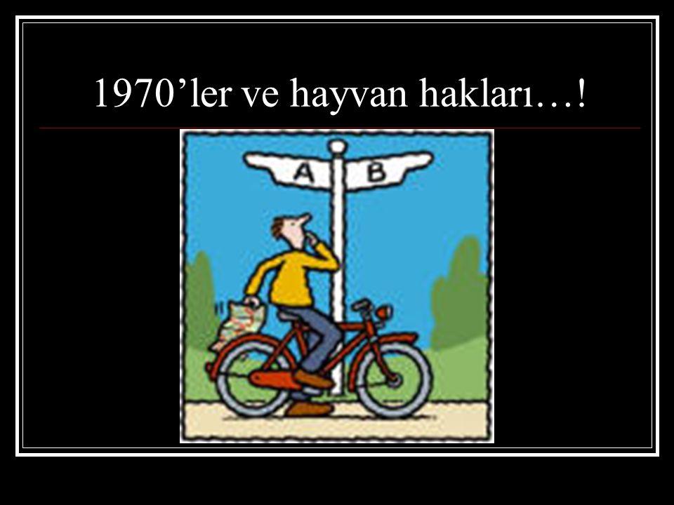 1970'ler ve hayvan hakları…!