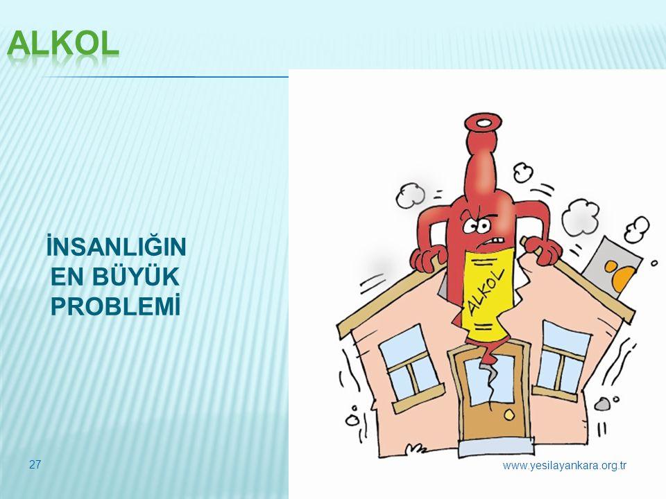 İNSANLIĞIN EN BÜYÜK PROBLEMİ 27 www.yesilayankara.org.tr