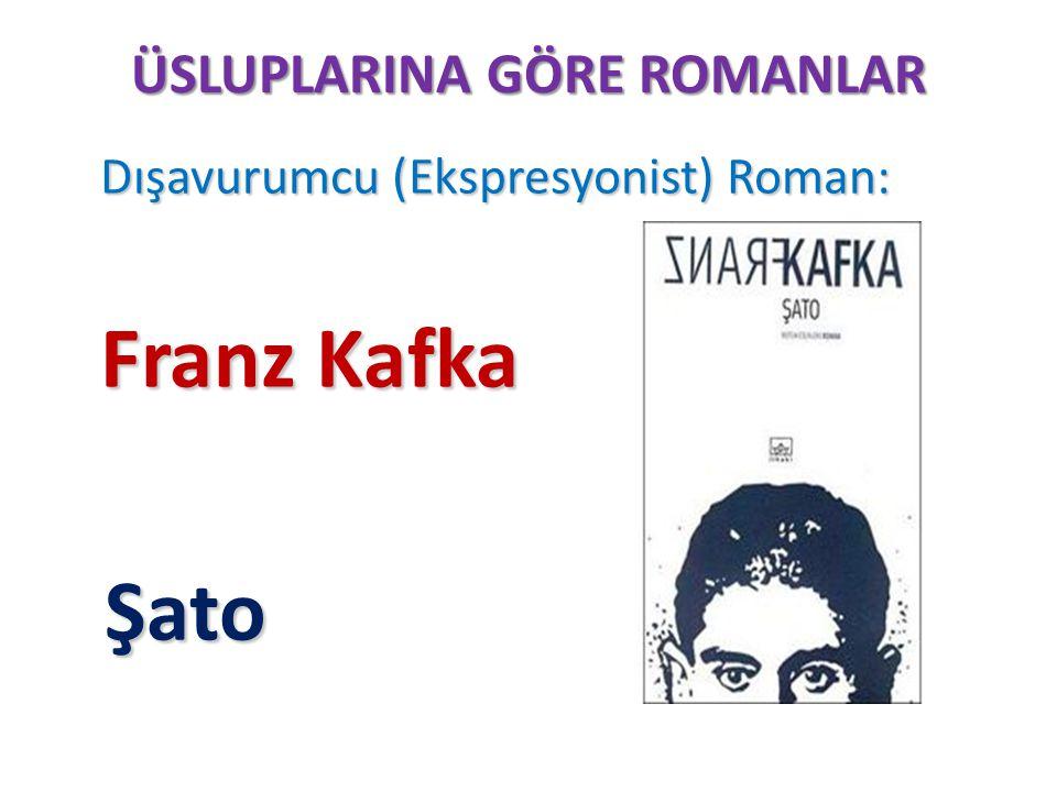 ÜSLUPLARINA GÖRE ROMANLAR Dışavurumcu (Ekspresyonist) Roman: Dışavurumcu (Ekspresyonist) Roman: Franz Kafka Şato Şato