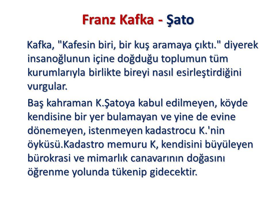 Franz Kafka - Şato Kafka,
