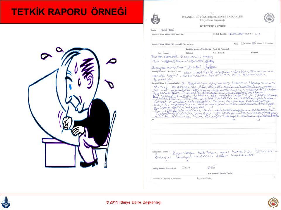 © 2011 itfaiye Daire Başkanlığı TETKİK RAPORU ÖRNEĞİ