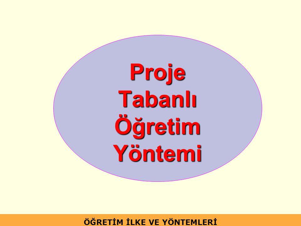 Proje Tabanlı Öğretim Yöntemi ÖĞRETİM İLKE VE YÖNTEMLERİ