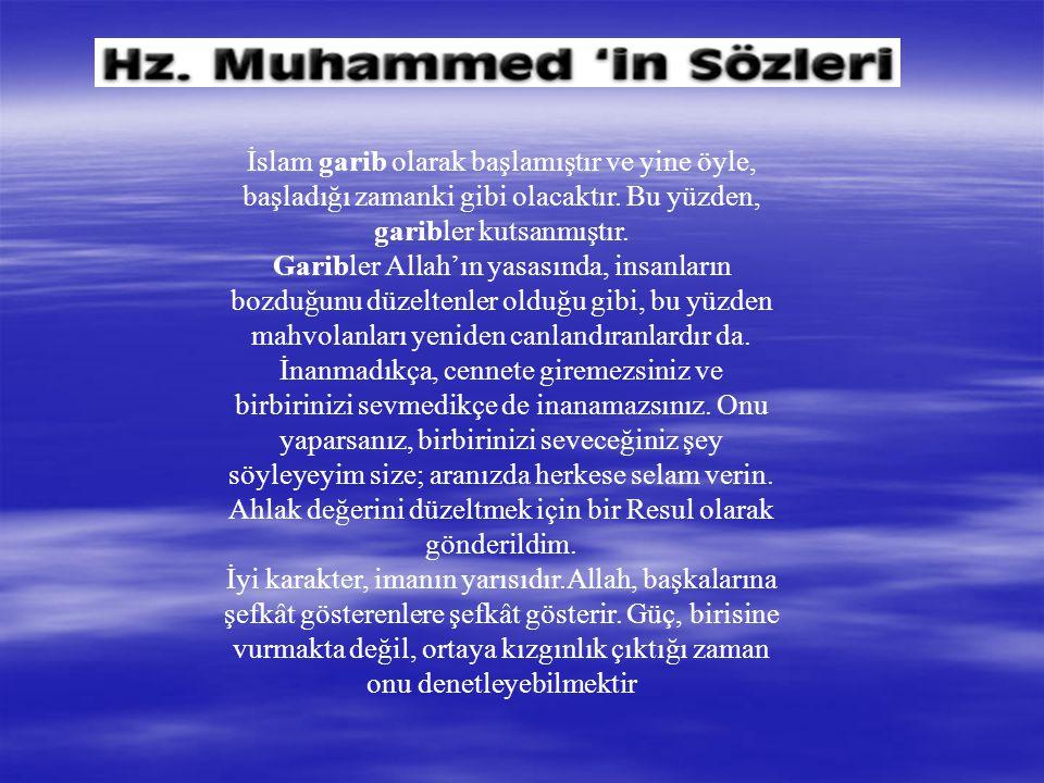 İslam garib olarak başlamıştır ve yine öyle, başladığı zamanki gibi olacaktır.