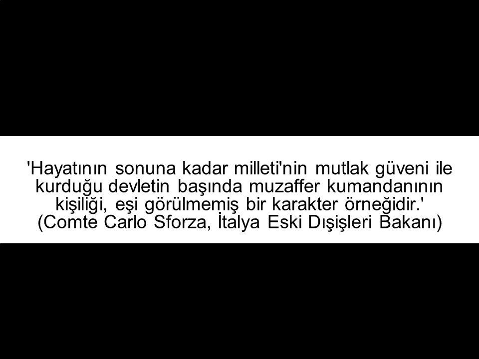 Atatürk'ün ölümü yalnız Türk Milleti için değil, onun örneğine çok muhtaç olan bütün Doğu milletleri için en büyük kayıptır. (ELEYYAM Gazetesi, Şam- 1