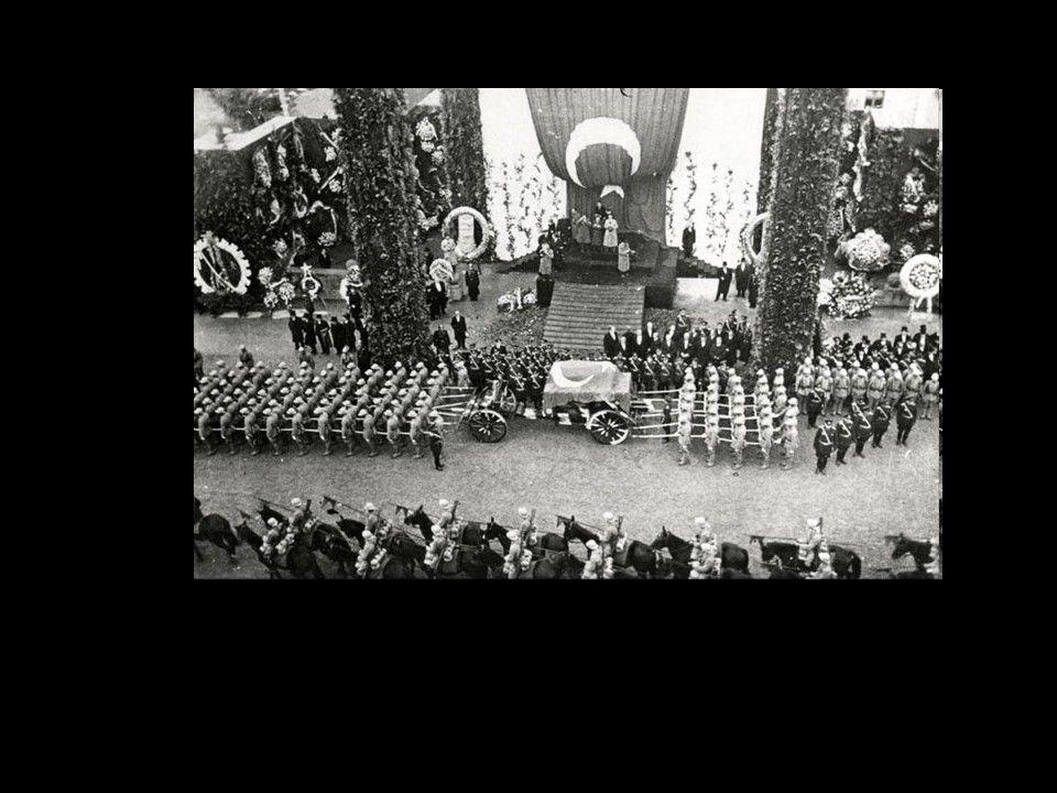 TBMM'deki törenden sonra geçici olarak Atatürk Etnoğrafya Müzesine yerleştirildi