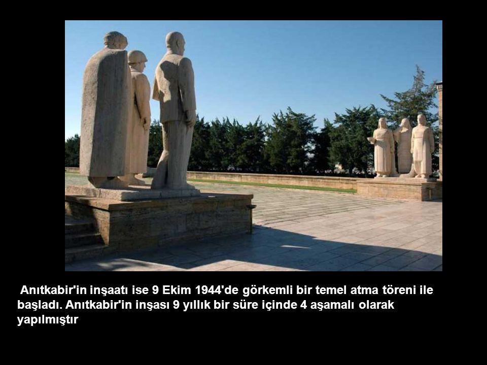 Geçici olarak Etnoğrafya Müzesine konulan Atatürk'ün ebedi istirahatgahı için Ankara'da Rasattepe'de Emin Onat ve Orhan Arda'nın projesi olan Anıtkabi