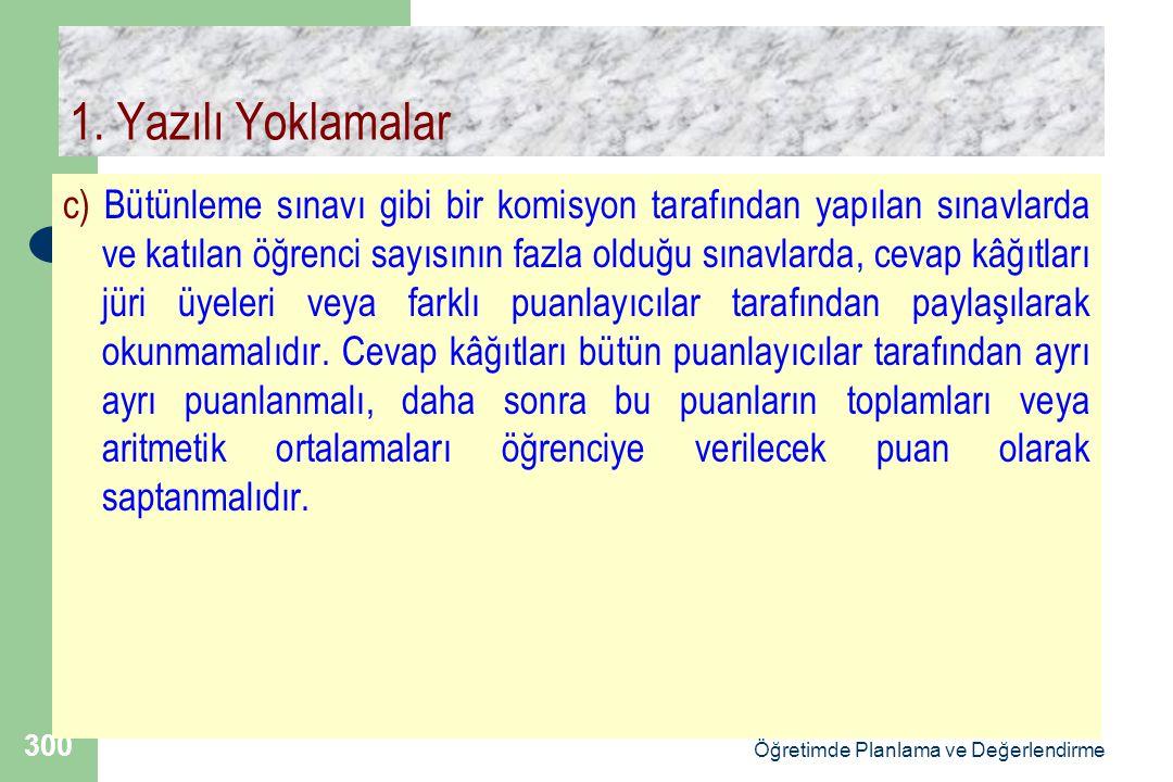 Doç.Dr.Selahattin Gelbal Öğretimde Planlama ve Değerlendirme 300 1.