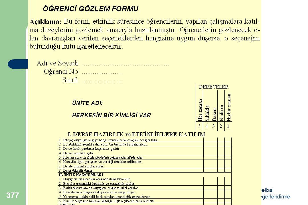 Doç.Dr.Selahattin Gelbal Öğretimde Planlama ve Değerlendirme 377
