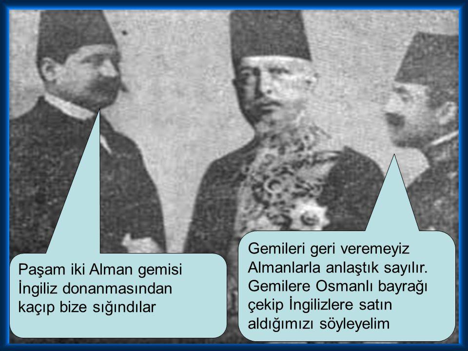 Birinci Dünya Savaşı başladığında Osmanlı tarafsızlığını ilan eder. Ancak çok zaman geçmeden Goben ve Breslav isimli iki Alman gemisi İtilaf devletler