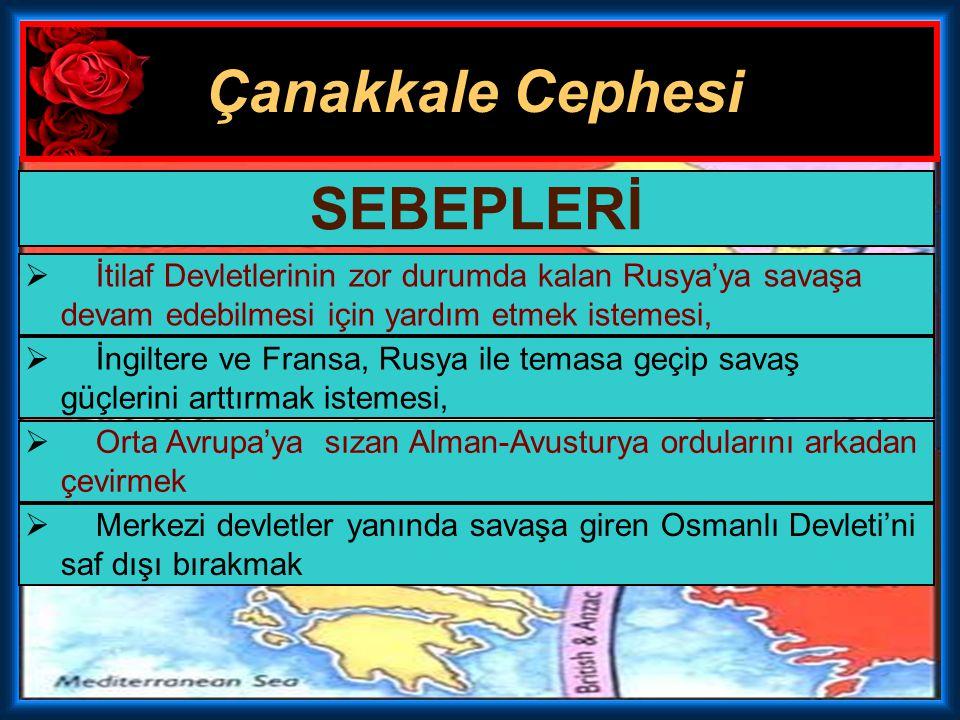 Çanakkale Cephesi Birinci Dünya Savaşı içinde 3 Kasım 1914 – 9 Ocak 1916 tarihleri arasında Çanakkale Boğazı'nda cereyan eden savaşlara Çanakkale Sava