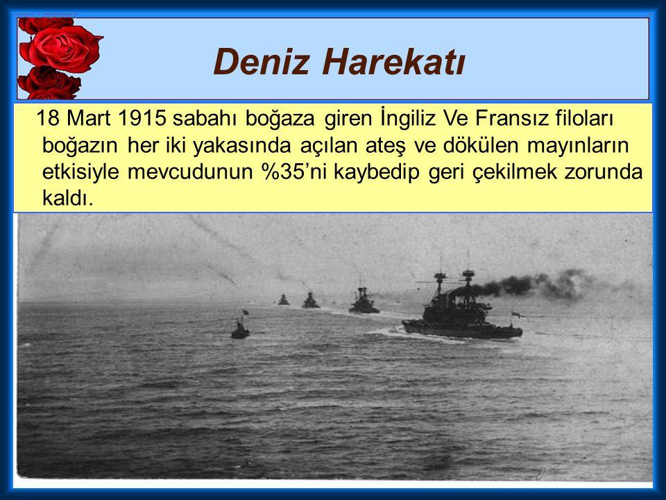 Deniz Harekatı Fakat aynı günün akşamı Türk donanmasına mensup, Yüzbaşı Hakkı Bey kumandasındaki Nusret Mayın Gemisi'nin Karanlık Liman bölgesini tekr