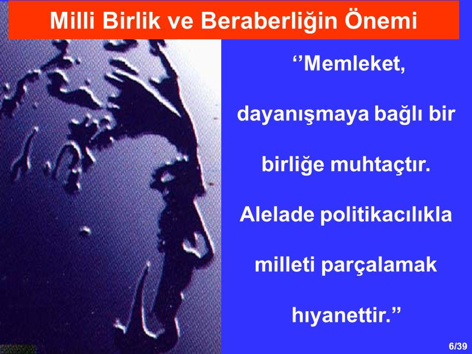 7/39 Birinci Dünya Savaşı'nın kaybedilmesinden sonra bütün dünya artık Türkler bitti düşüncesine kapılmışlardı.