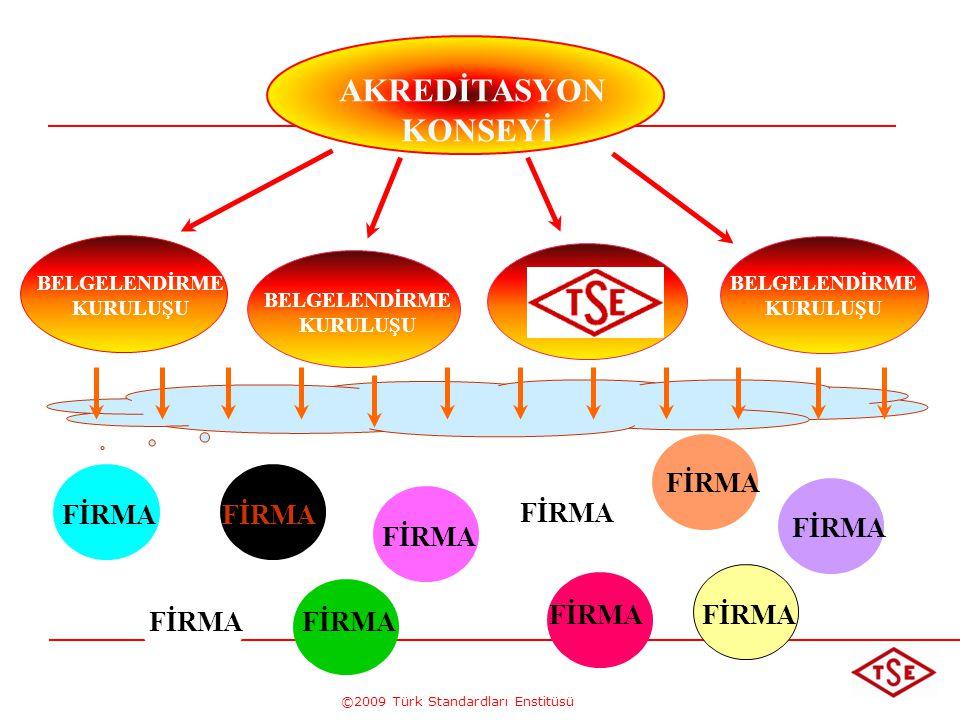 ©2009 Türk Standardları Enstitüsü AKREDİTASYON KONSEYİ BELGELENDİRME KURULUŞU BELGELENDİRME KURULUŞU BELGELENDİRME KURULUŞU FİRMA