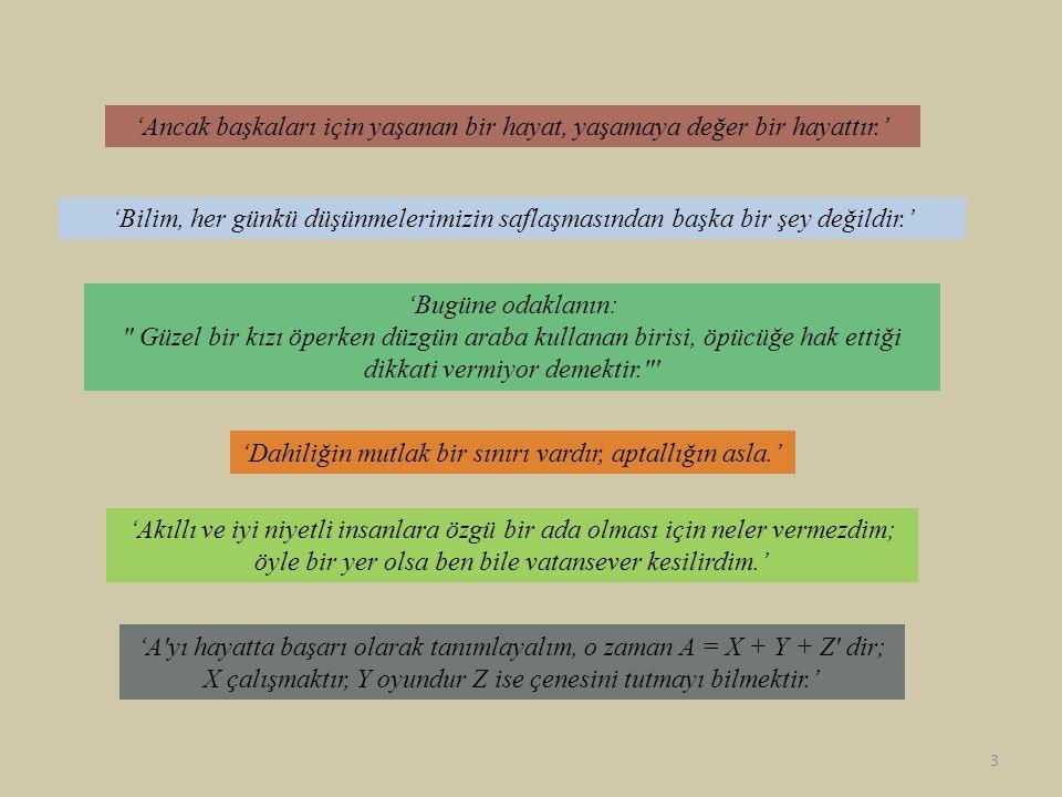Özel Görelilik Teorisi • 4- boyutlu bir evren sunar.