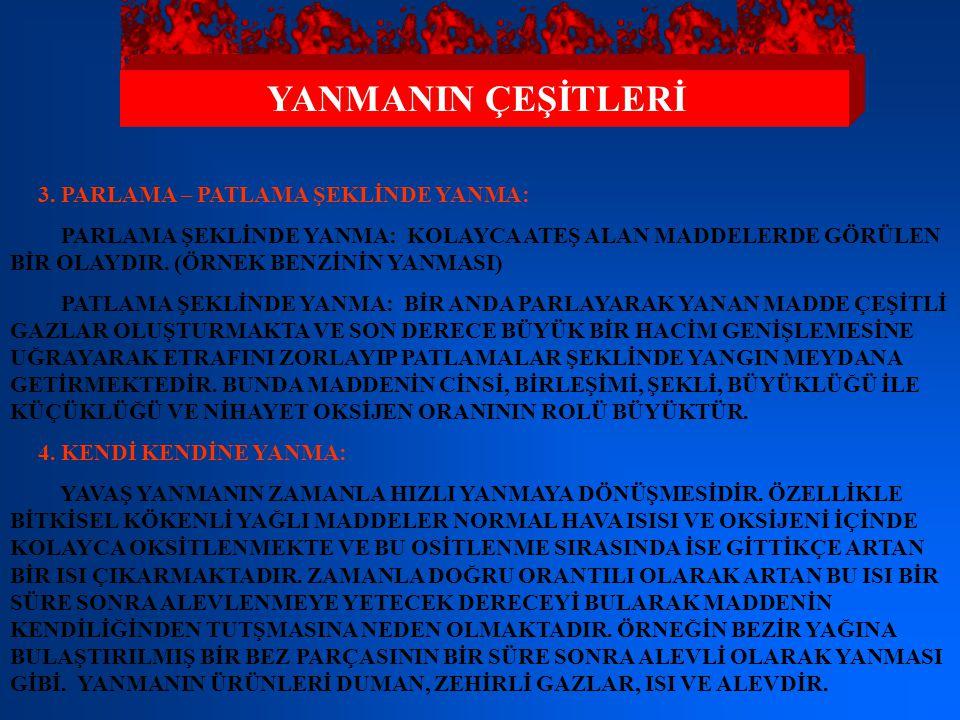 YANMANIN ÇEŞİTLERİ 3.