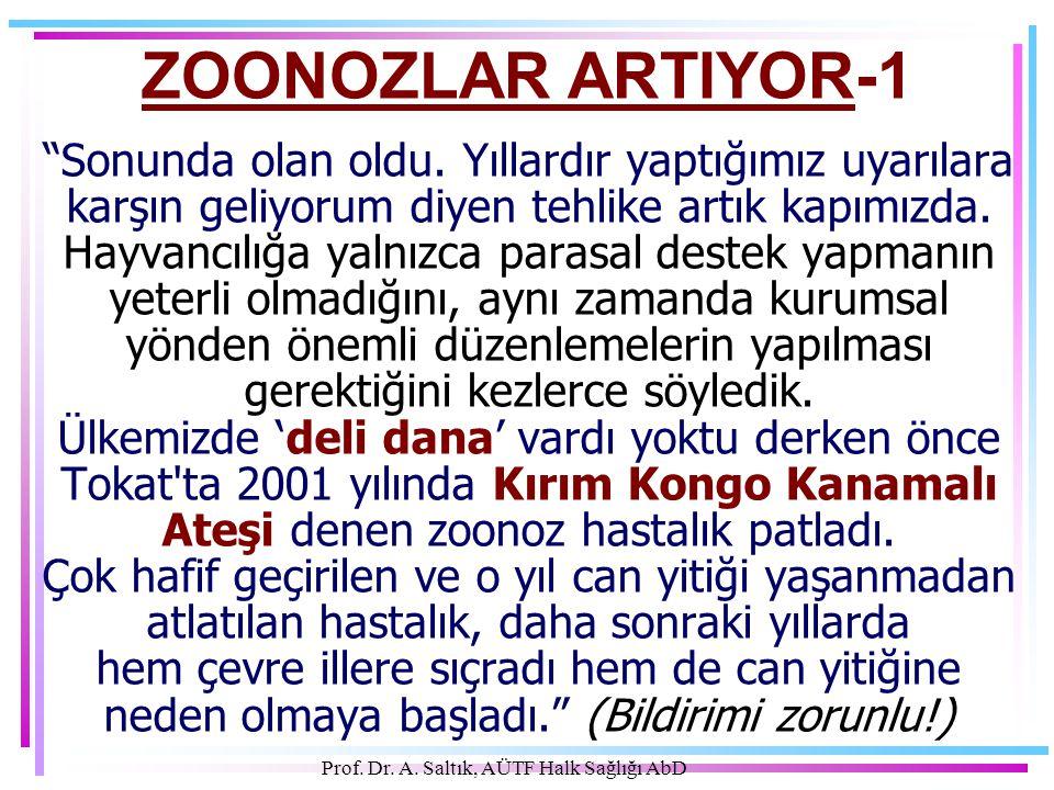 Prof.Dr. A. Saltık, AÜTF Halk Sağlığı AbD ZOONOZLAR ARTIYOR-1 Sonunda olan oldu.