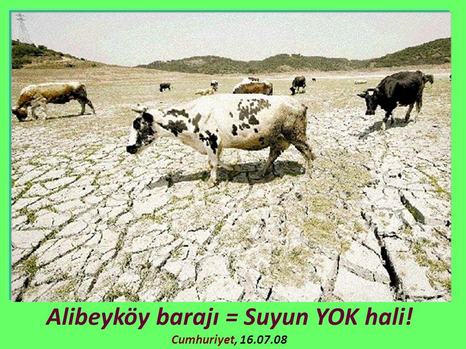 Alibeyköy barajı = Suyun YOK hali! Cumhuriyet, 16.07.08