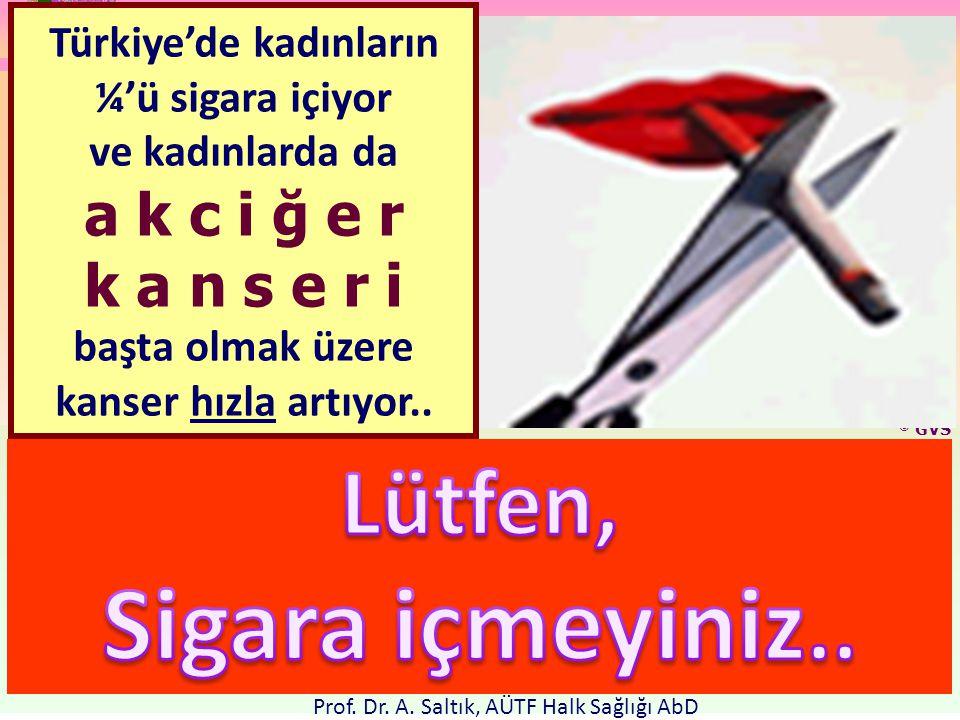 Sabrınız için teşekkür ederiz; ADALET, Ülkenin temelidir.. www.ahmetsaltik.com © GVS Türkiye'de kadınların ¼'ü sigara içiyor ve kadınlarda da a k c i