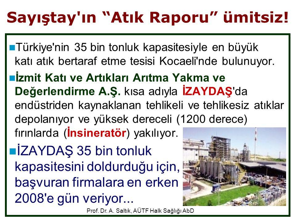 """Sayıştay'ın """"Atık Raporu"""" ümitsiz!  Türkiye'nin 35 bin tonluk kapasitesiyle en büyük katı atık bertaraf etme tesisi Kocaeli'nde bulunuyor.  İzmit Ka"""