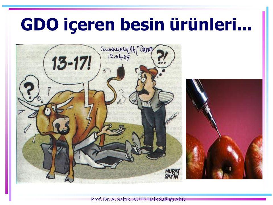 Prof. Dr. A. Saltık, AÜTF Halk Sağlığı AbD GDO içeren besin ürünleri...