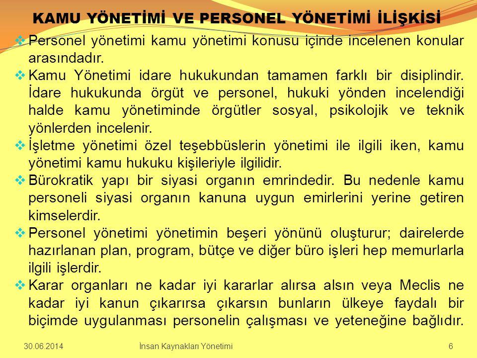 MEMURLARIN EĞİTİMİ  Türk kamu personel sistemi kıdem/rütbe esasına dayandığı için memur adayı ve memurun eğitimi daha da önem kazanmaktadır.