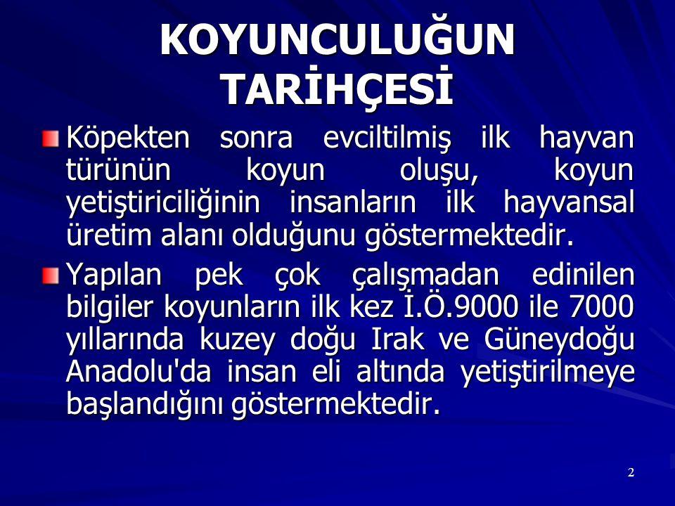 133 Türkiye koyunlarının melezleme ile süt verimlerinin ıslahı çalışmalarının çoğunluğunu Doğu Friz ile yapılan melezlemeler oluşturmaktadır.