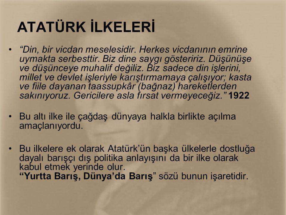 ATATÜRK DEVRİMLERİ •1 Kasım 1922 - Saltanat ile hilafetin ayrılması ve saltanatın kaldırılması.