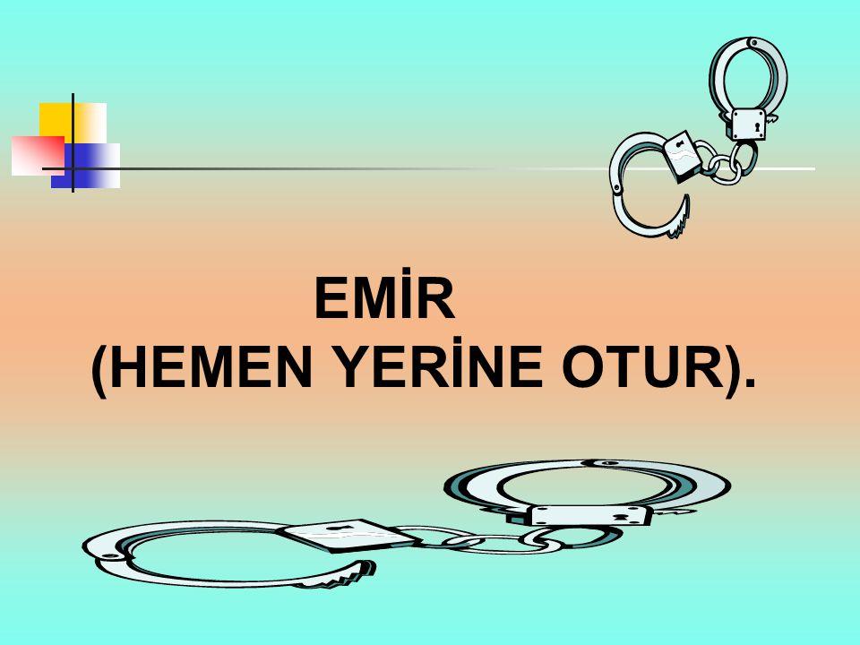 EMİR (HEMEN YERİNE OTUR).