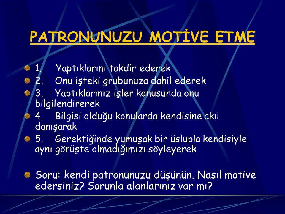 Ekipler başlıca 3 unsurla motive olurlar.