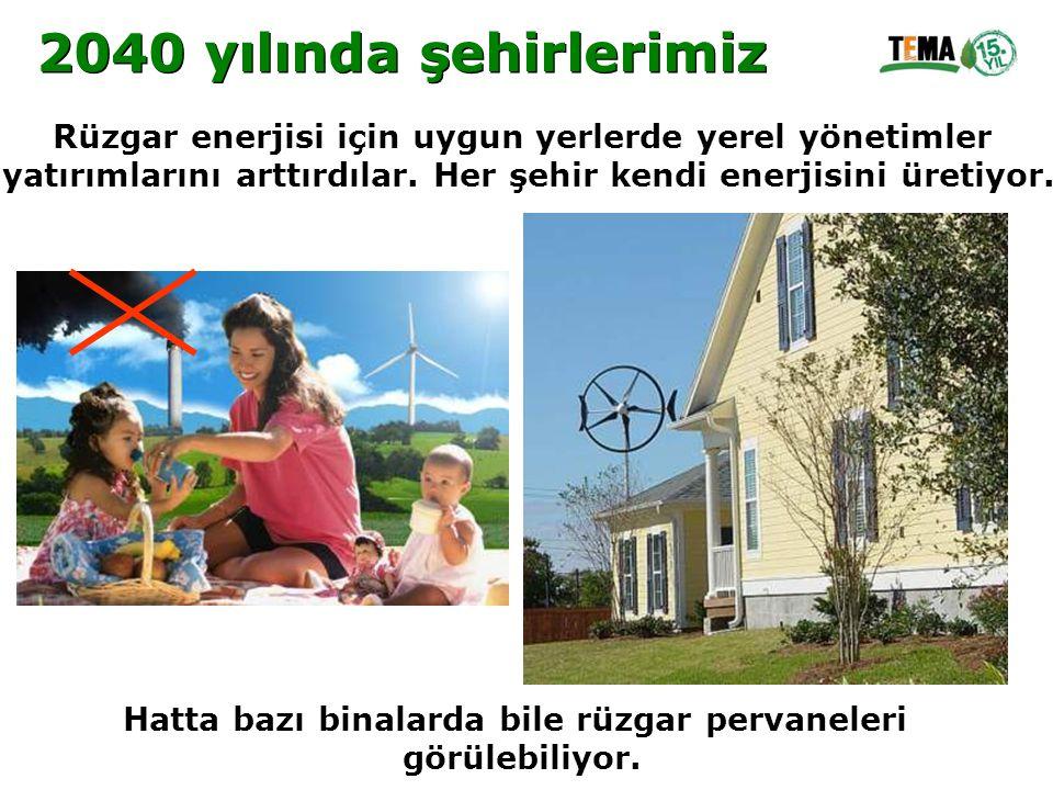 Rüzgar enerjisi için uygun yerlerde yerel yönetimler yatırımlarını arttırdılar. Her şehir kendi enerjisini üretiyor. Hatta bazı binalarda bile rüzgar