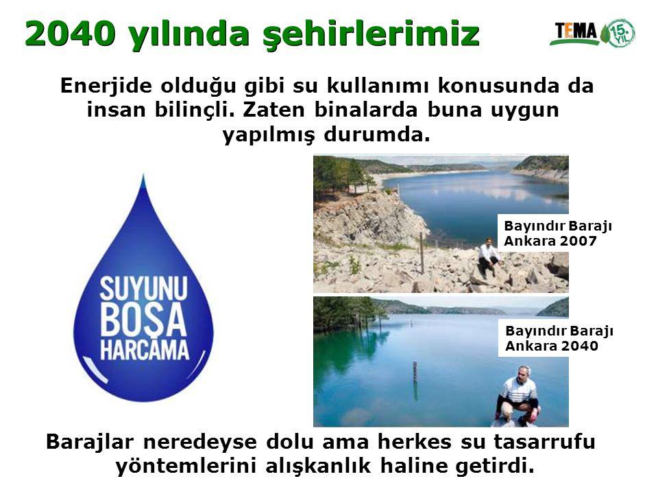 Enerjide olduğu gibi su kullanımı konusunda da insan bilinçli. Zaten binalarda buna uygun yapılmış durumda. Barajlar neredeyse dolu ama herkes su tasa