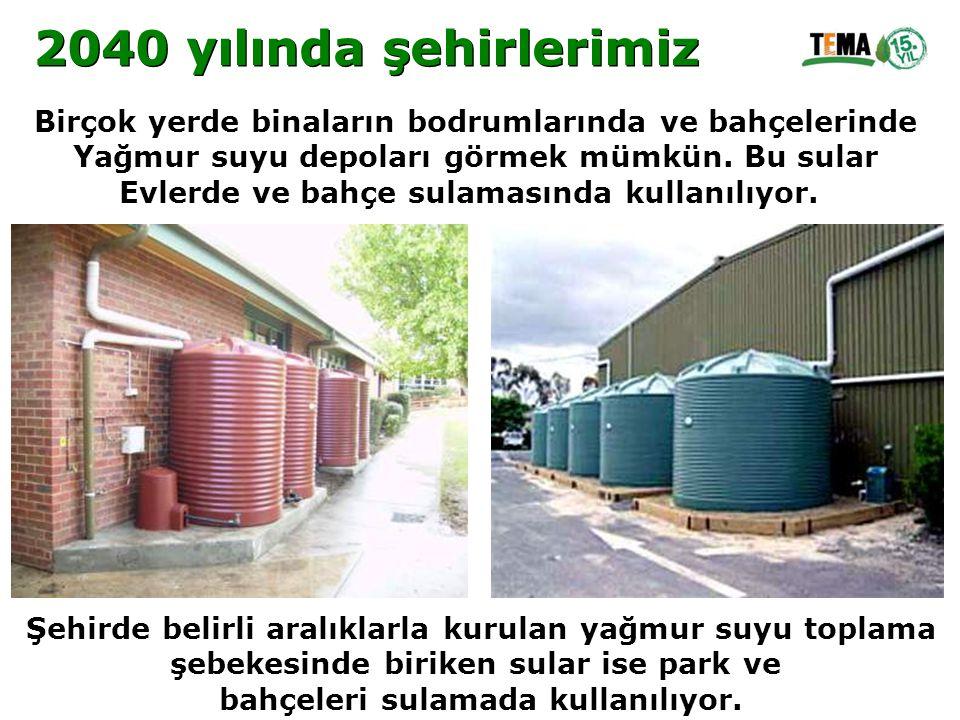 Birçok yerde binaların bodrumlarında ve bahçelerinde Yağmur suyu depoları görmek mümkün. Bu sular Evlerde ve bahçe sulamasında kullanılıyor. Şehirde b