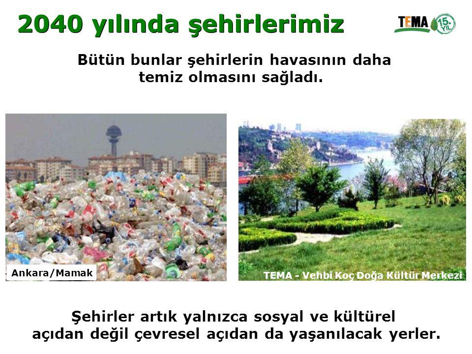 Bütün bunlar şehirlerin havasının daha temiz olmasını sağladı. Şehirler artık yalnızca sosyal ve kültürel açıdan değil çevresel açıdan da yaşanılacak