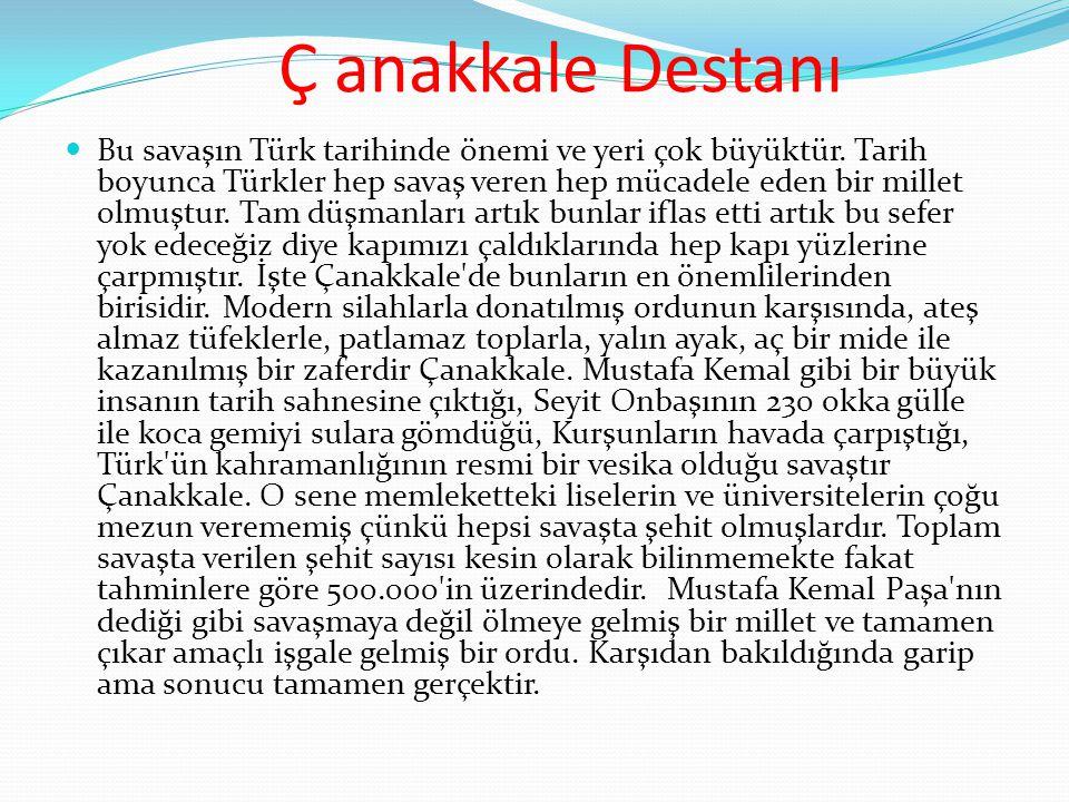  Bu savaşın Türk tarihinde önemi ve yeri çok büyüktür. Tarih boyunca Türkler hep savaş veren hep mücadele eden bir millet olmuştur. Tam düşmanları ar