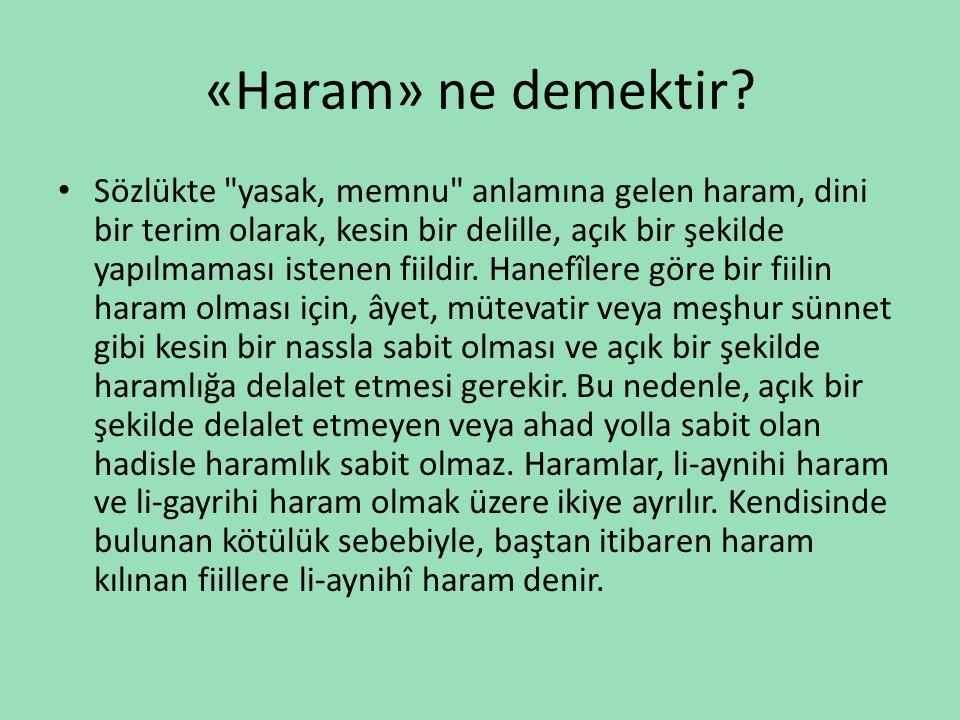 «Haram» ne demektir? • Sözlükte