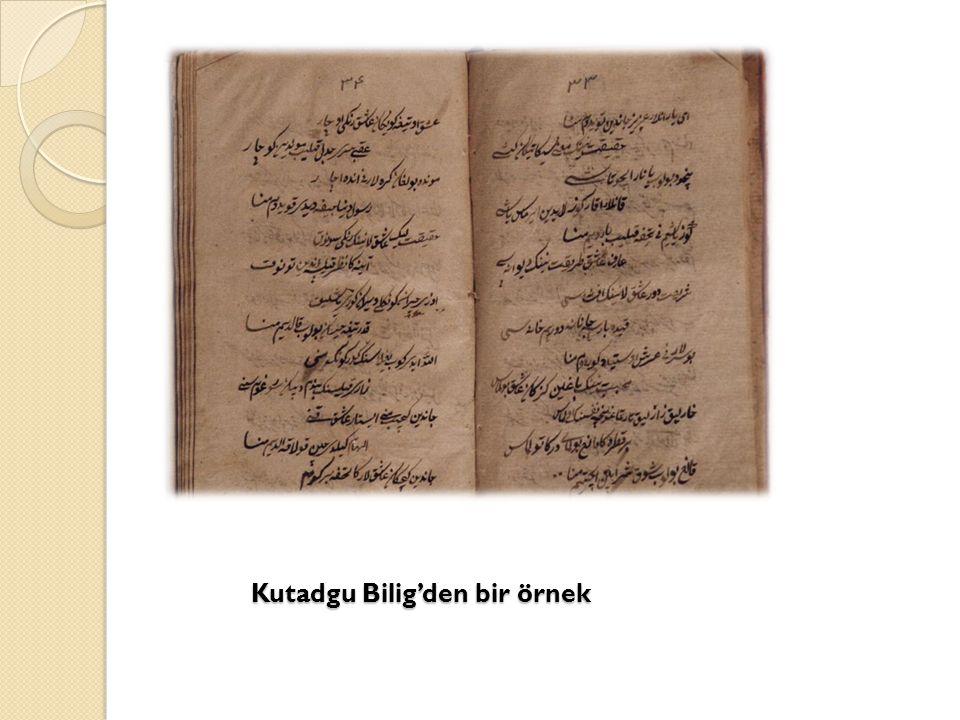 Kutadgu Bilig'den bir örnek