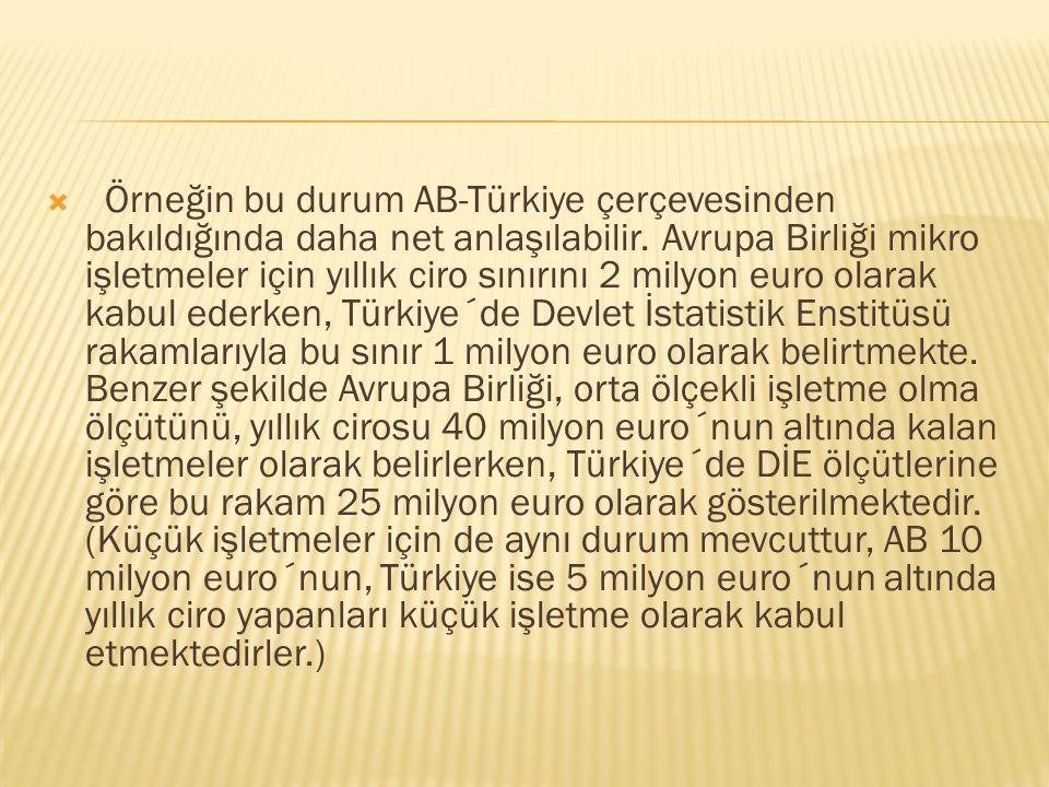  Örneğin bu durum AB-Türkiye çerçevesinden bakıldığında daha net anlaşılabilir.