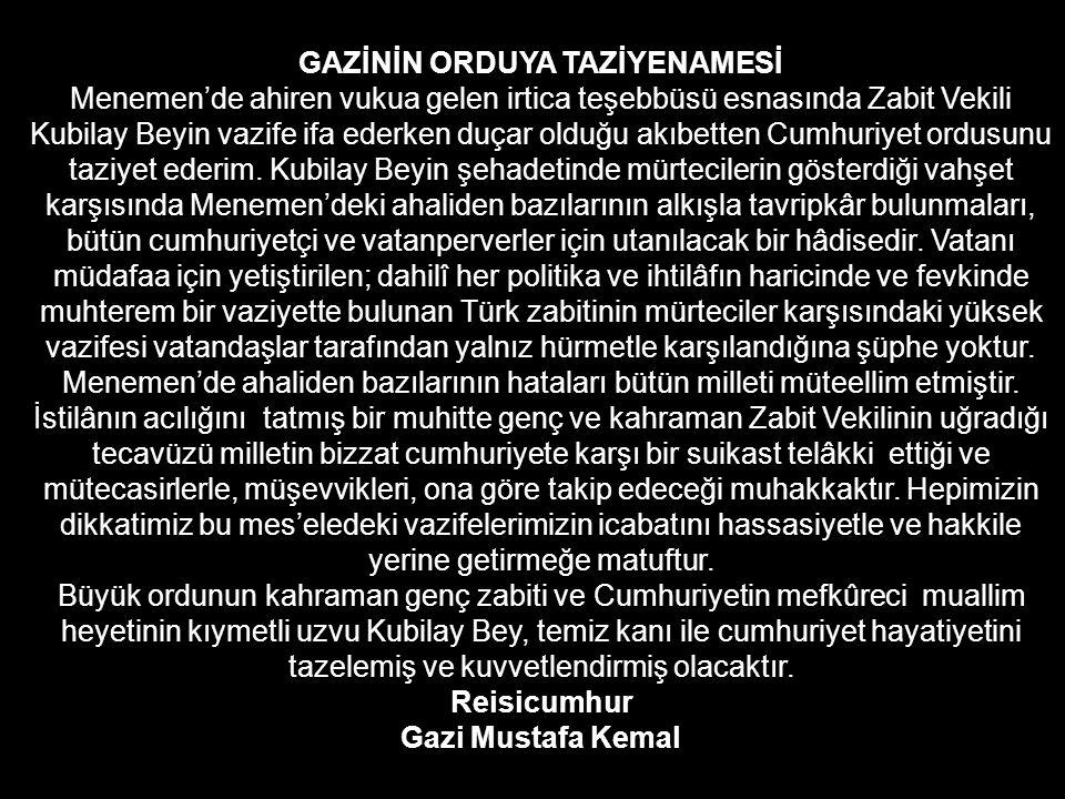 DİVAN-I HARP MAHKEMESİ General Mustafa Muğlalı başkanlığında kurulan Divan Harp Mahkemesinde 41 kişi suçlu görülerek çeşitli cezalara çarptırılır 36 s