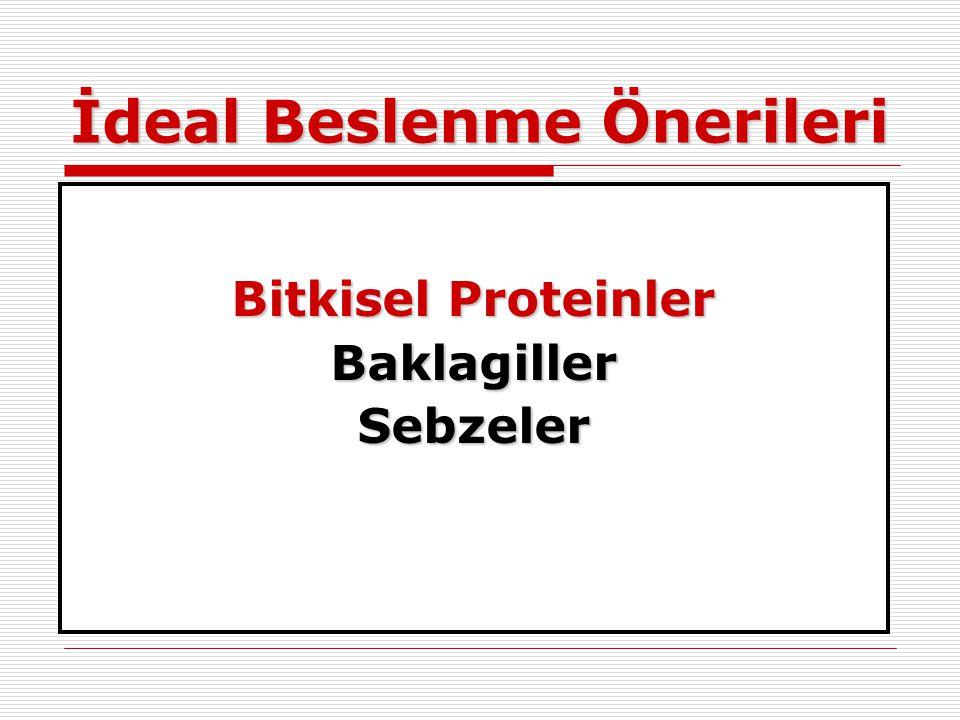 İdeal Beslenme Önerileri Bitkisel Proteinler BaklagillerSebzeler