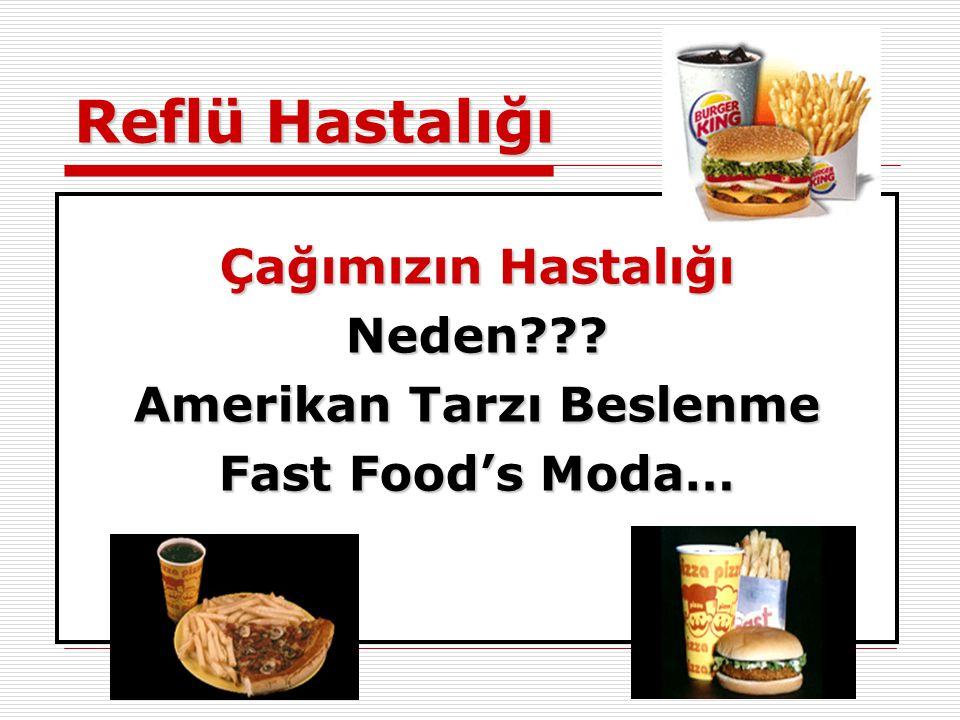 Reflü Hastalığı Çağımızın Hastalığı Neden??? Amerikan Tarzı Beslenme Fast Food's Moda…