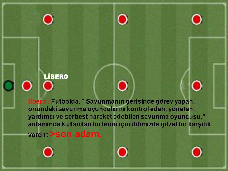 libero : Futbolda,