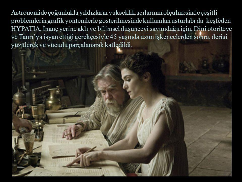 Rafael'in Atina Okulu tablosundan Hypatia Hypatia nın öldürülmesi dünyanın bin yıl cehalet ve batıl inanç bulutlarıyla kaplandığı Karanlık Çağların başlangıcını da işaret etmiştir.