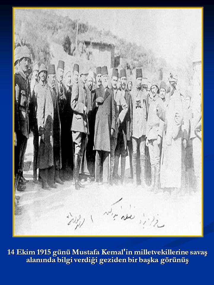 Kaiser Wilhelm II nin Sultan Reşad ı ziyareti. Kaiser in solundaki Enver Paşa.